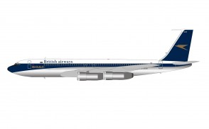 BOAC / British Airways Boeing 707-336C G-AXGW with stand ARDBA28 scale 1:200