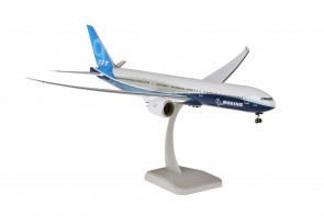 Boeing House Blue 777-9X with stand & gears 777X Hogan HG11304G scale 1:200