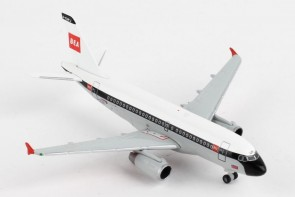 British Airways Airbus A319 G-EUPJ  Retro BEA livery 100 Years Herpa 533492 scale 1:500