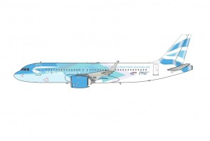 British Airways Airbus A320-251N G-TTNA Be BetterWorld livery with stand and coin by ARDInFlight ARDBA038 scale 1:200