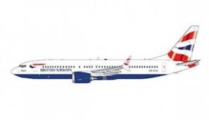 British Airways Boeing 737 MAX 8 Gemini Jets GJBAW1876 scale 1:400