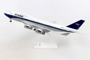 Side British Airways Boeing 747-400 100 Years G-BYGC  stand & gears Skymarks SKR1015 scale 1:200