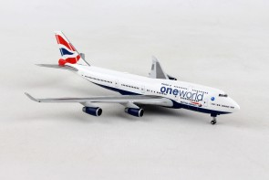 British Airways Boeing 747-400 One World G-CIVL Herpa 531924 scale 1:500