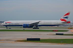 British Airways Boeing 777-300 G-STBH stand & gears Skymarks SKR9400 1:100