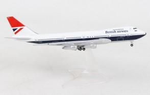 British Airways Farewell Boeing 747-100 G-AWNN Sebastian Cabot Herpa Wings 534857 scale 1:500
