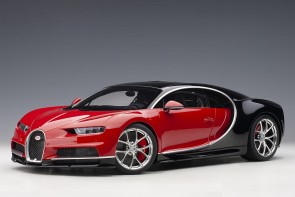 Bugatti Chiron 2017 color: Italian Red/Nocturne Black AUTOart 12113 scale 1:12