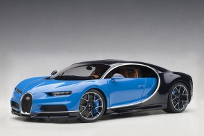 Profile Bugatti Chiron 2017 French Racing Blue/Atlantic Blue AUTOart 70993 scale 1:18