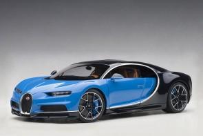Profile Bugatti Chiron 2017 French Racing Blue/Atlantic Blue AUTOart 70993 scale 1:18