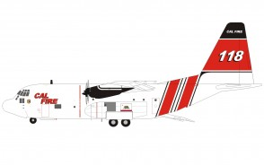 Cal Fire Lockheed HC-130H Hercules N118Z with stand Inflight200 IF130CALF118 scale 1:200