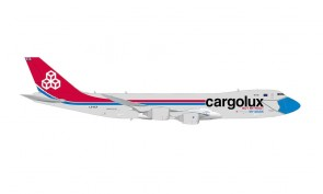 "Cargolux Boeing 747-8F ""Not Without My Mask"" LX-VCF Herpa 571272 scale 1:200"