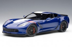 Chevrolet Corvette Grand Sport Admiral Blue with white-stripes AUTOart 71275 scale 1:18
