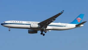 China Southern Airbus A330-300 B-8361 中国南方航空 with stand Aviation400 AV4067 scale 1:400