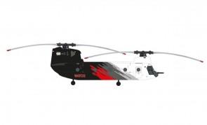 Coulson Aviation Boeing CH-47D Chinook  N47CU die-cast Herpa Wings 571517 scale 1:200