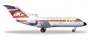 CSA Ceskoslovenske Yak-40 OK-FEI Metallic Herpa 559348 scale 1:200