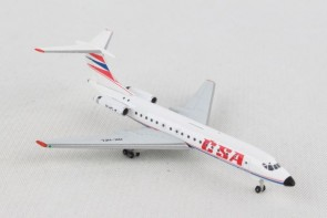CSA Czechoslovak Airlines Tupolev TU-134A  Herpa 532945 scale 1:500