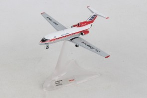 Cubana de Aviacion Yak-40 CU-TE1221 Metallic Herpa 559775 scale 1:200