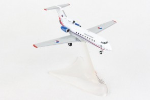 Czech air Force Yak-40 #1257 241st sqdn die-cast metallic model Herpa 559898 scale 1:200