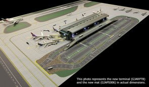 Airport Terminal Set, LED Lighted Airport  Airside / Land side Gemini Jets GJARPTB Scale 1:400 GJARPTB