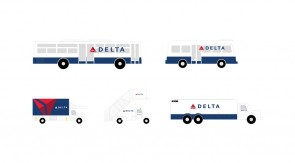 Delta GSE Ground Equipment Set of 5 vehicles Gemini G2DAL720 scale 1:200