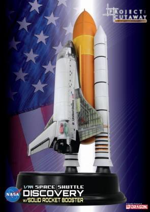 "Project: Cutaway Space Shuttle ""Discovery"" w/Solid Rocket Booster 1:144 Scale"
