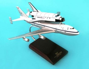 B-747 With Atlantis Shuttle E0820 Crafted Resin Display Model Scale 1:200