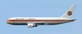 Egyptair Boeing 767-200 SU-GAH AeroClassics AC419437 die-cast scale 1:400
