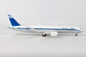 El Al-Retro Boeing 787-9 Dreamliner 4X-EDF אל על with gears Hogan HG11212G scale 1:200