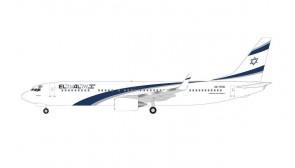 EL AL Boeing 737-900 4X-EHD First Flight to UAE Herpa 534901 scale 1:500