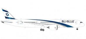 El Al Israel Boeing 787-9 Dreamliner Reg: 4X-EDA Herpa 559249 scale 1:200