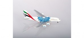 Emirates Airbus A380 A6-EOC Blue Mobility Livery Dubai 2020 Expo Herpa 533713 scale 1:500