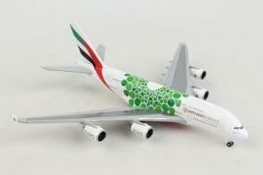 Emirates Airbus A380 A6-EOW Green Sustainability Livery Dubai 2020 Expo Herpa 533522 scale 1:500