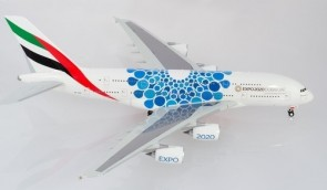 Emirates Airbus A380 Blue Bubbles 2020 Dubai Mobility Expo livery Herpa 570800 scale 1:200