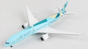 """Etihad 787-10 """"Greenliner"""" Boeing 787-10  A6-BMH Herpa wings 534420 scale 1:500"""