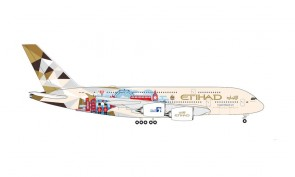 "Etihad Airbus A380 A6-APE ""Choose the United Kingdom"" Herpa 535007 scale 1:500"