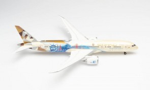 """Etihad """"Choose the USA"""" Boeing 787-9 A6-BLE Dreamliner Herpa 571340 scale 1:200"""