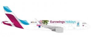 """Eurowings Airbus A320 OE-IQD """"Holidays"""" die-cast Herpa 531276 1:500"""