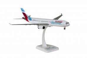 """Eurowings Airbus A330-300 D-AFYQ """"Discover"""" with gears & stand Hogan HGEWD001 scale 1:200"""