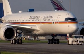 Flaps down German Air Force Airbus A350-900ACJ 10+01 Luftwaffe JC Wings LH4LFT246A scale 1:400