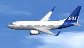 Flaps down SAS Scandinavian Boeing 737-700(W) SE-RJX JCWings JC2SAS0107A scale 1200