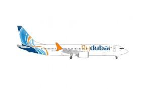Fly Dubai Boeing 737Max9 A6-FNB die-cast Herpa Wings 535076 scale 1:500