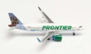 Frontier Airbus A320neo N30IFR Wilbur the Whitetail Herpa Wings 534833 scale 1:500