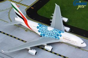 Blue Emirates Airbus A380-800 A6-EOC Expo 2020 Gemini G2UAE779 1:200