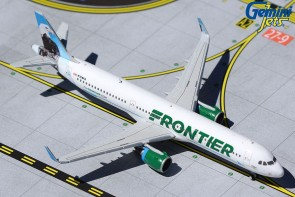 """Frontier Airlines Airbus A321 N709FR """"Steve"""" the Bald Eagle GeminJets GJFFT1618 Scale 1:400"""