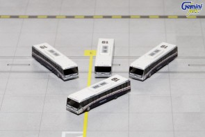 US Airways Cobus 3000 Set of 4 Buses GJUSA1533 Die-Cast Scale 1:400