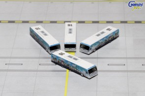 Greener US Airways Cobus 3000 Set of 4 Buses GJUSA1534 Die-Cast Scale 1:400