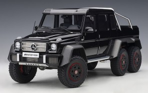 Glossy Black Mercedes Benz G63 AMG 6x6 Die-Cast AUTOart 76306 scale 1:18