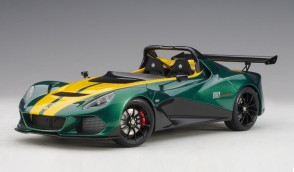 Green Lotus 3-Eleven with yellow accents die-cast AUTOart 75392 scale 1:18
