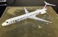 Sale! Crossair MD-80 registration HB-ISX (Swiss) Phoenix scale 1:400