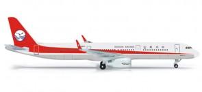 Sichuan Airbus A321 Reg# B-9967 Herpa Wings HE524964 Scale 1:500