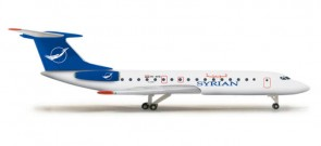 Herpa Wings Die Cast Model Syrian TU134B3 HE524988 Herpa  Item: HE524988  1:500 Scale